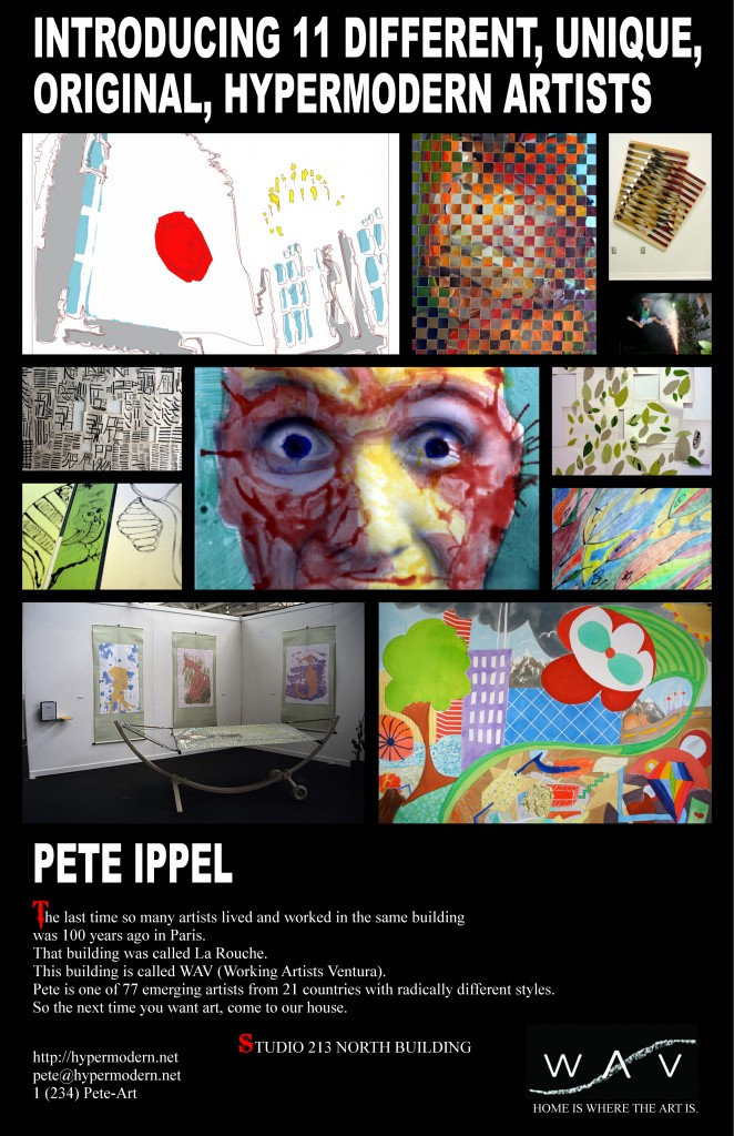 Introducing 11 Different, Unique, Original, Hypermodern Artists: Pete Ippel